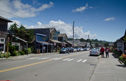 Streets of Cannon Beach Oregon Royalty Free Stock Image