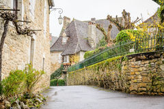 Streets of carennac, france Royalty Free Stock Image
