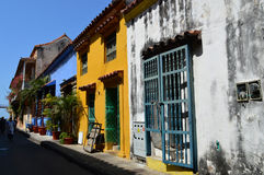 Streets of Cartagena, Colombia Royalty Free Stock Photography