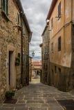 Streets of Castiglione d'Orcia Stock Image