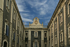 On the streets of Catania. Sicily, southern Italy stock photography