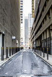 Streets of the center city with skyscrappers Royalty Free Stock Photo