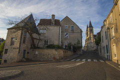 Streets of Chaumont, France royalty free stock photos
