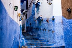 Streets of Chefchaouen Royalty Free Stock Image