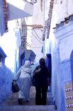 Streets of Chefchaouen Stock Photography