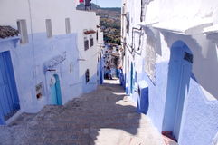 Streets of Chefchaouen Stock Photo