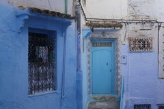 Streets of Chefchaouen Morocco. Chefchaouen  is a city in northwest Morocco. It is the chief town of the province of the same name, and is noted for its Royalty Free Stock Image
