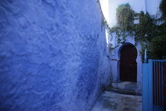 Streets of Chefchaouen Morocco. Chefchaouen  is a city in northwest Morocco. It is the chief town of the province of the same name, and is noted for its Royalty Free Stock Photos