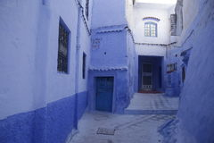 Streets of Chefchaouen Morocco. Chefchaouen  is a city in northwest Morocco. It is the chief town of the province of the same name, and is noted for its Stock Photos