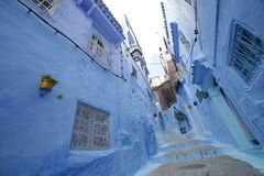Streets of Chefchaouen Morocco. Chefchaouen  is a city in northwest Morocco. It is the chief town of the province of the same name, and is noted for its Stock Images