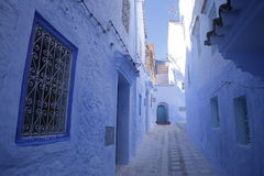 Streets of Chefchaouen Morocco. Chefchaouen  is a city in northwest Morocco. It is the chief town of the province of the same name, and is noted for its Royalty Free Stock Photography