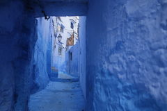 Streets of Chefchaouen Morocco. Chefchaouen  is a city in northwest Morocco. It is the chief town of the province of the same name, and is noted for its Royalty Free Stock Photo