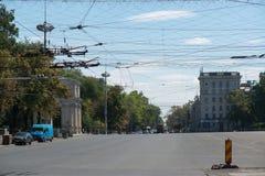 Streets of Chisinau in Moldova Stock Image