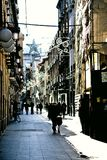 The streets of Christmas in Granada Royalty Free Stock Image