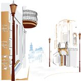 Streets in the city royalty free illustration