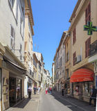 Streets of the city of Antibes Stock Photos