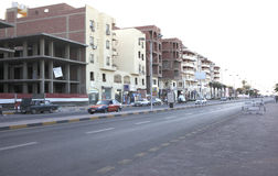The streets of the city center in Hurghada Stock Image