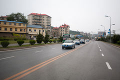 Streets city Lushun, russian name Port Arthur Stock Photography