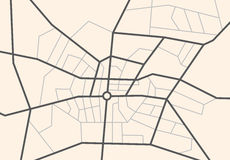 Streets on the city map - vector scheme royalty free illustration