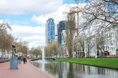 On  streets of the city of Rotterdam. Stock Photography