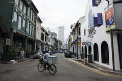 Streets in the city of Singapore. Royalty Free Stock Photos
