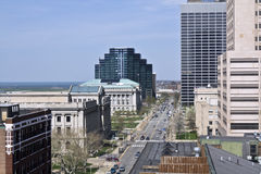 Streets of Cleveland Royalty Free Stock Images