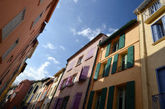 In the streets of Collioure in France Stock Image