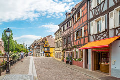 In the streets of Colmar city. Stock Photography