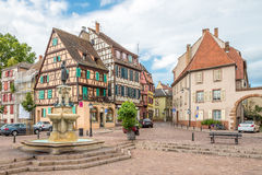 In the streets of Colmar city Stock Photos