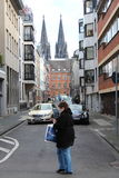 Streets of Cologne, Germany. Streets of Cologne (Köln in German) in Germany - with the famous Dome in the background royalty free stock photography