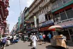 In the streets of Colombo in Sri Lanka Royalty Free Stock Photos