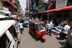 In the streets of Colombo in Sri Lanka Royalty Free Stock Images