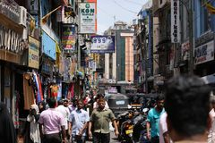 In the streets of Colombo in Sri Lanka Stock Photography