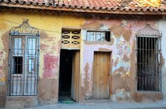 Streets of colonial Trinidad and some old houses, Cuba Stock Photos
