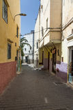 Streets and corners of Tangier in Morocco Royalty Free Stock Image