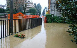 Streets and courtyards of the House invaded by mud during a floo. Ding of the River 2 Stock Image