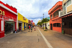 Streets Of Cozumel, Mexico Royalty Free Stock Photography