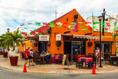 Streets Of Cozumel Stock Photo