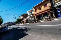 Streets on the crete. In sunny day Stock Photography