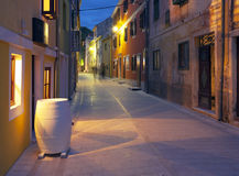 Streets of Croatia. A view of the streets of a town in Croatia royalty free stock photography