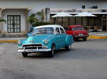 Cuba old cars still operational and used as taxis royalty free stock photography