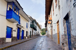 Streets of  Cuzco, Peru Royalty Free Stock Photography