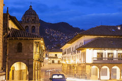 Streets of Cuzco. Before sunset. Cuzco, Peru royalty free stock photography
