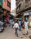 Streets of Delhi during the day Royalty Free Stock Images