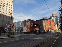 Streets of Denver stock image