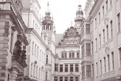 Streets of Dresden; Saxony; Germany Royalty Free Stock Photography