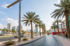 Streets of Dubai city Royalty Free Stock Photo