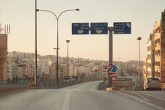 Streets in early morning in Amman, Jordan Stock Image