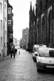 Streets of Edinburgh. Royal Mile at Edinburgh, Scotland Stock Photos