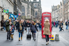 Streets of Edinburgh, Scotland, UK Stock Images